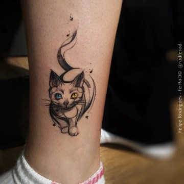 Cat Ankle Tattoo