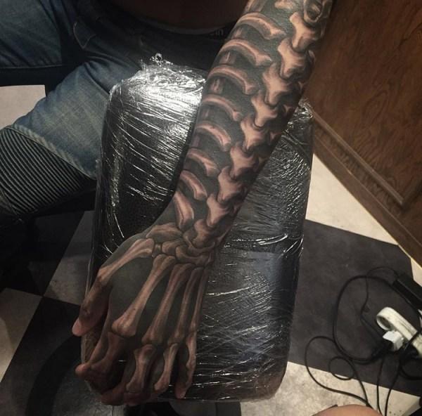 spine rib cage & hand bones