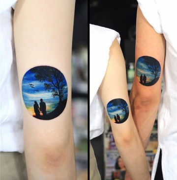 Couples silhouette Tattoo