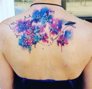 Aquarius Constellation Tattoo
