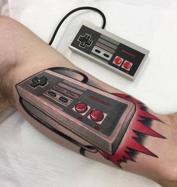 NES Controller Tattoo