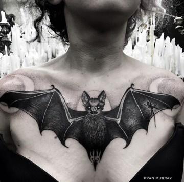 Bat Chest Tattoo