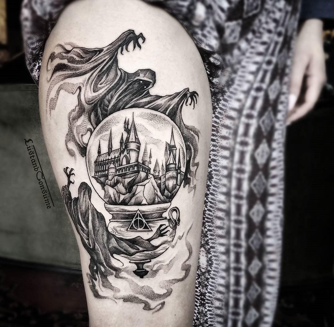 Harry Potter Arm Sleeve Tattoo