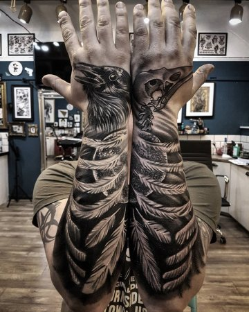 Raven Forearms & Hands