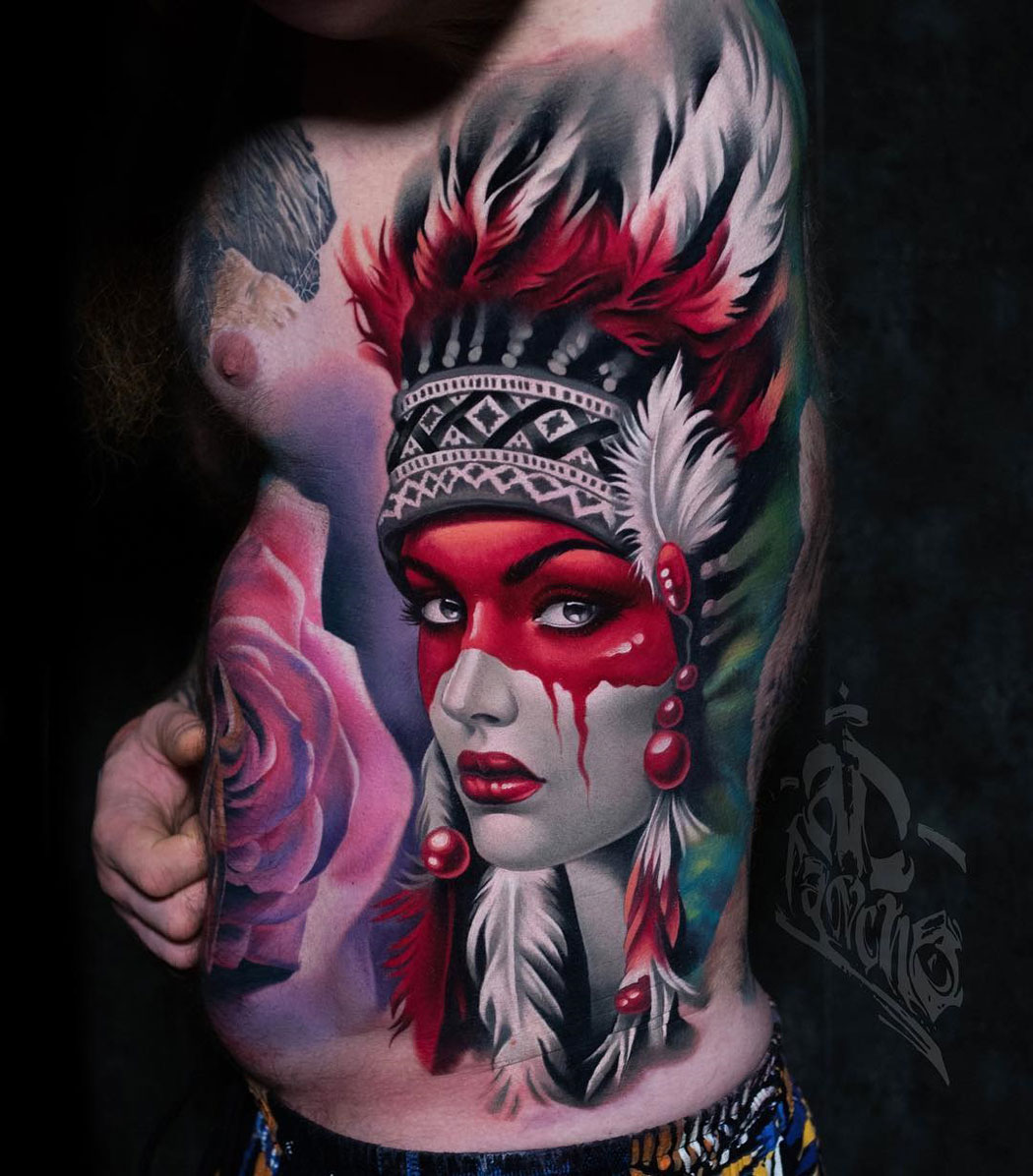 Native American Girl Portrait
