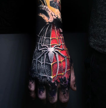 Spider-Man Hand Tattoo