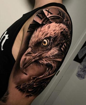 Eagle Head & Broken Clock Face