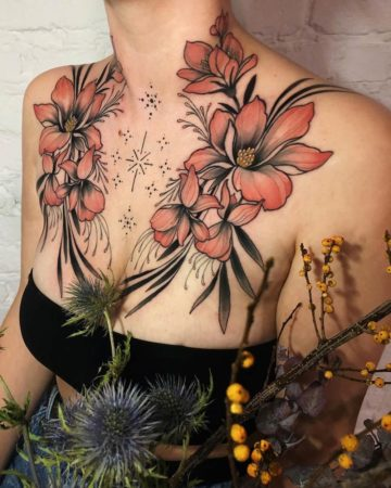 Woman's Floral Chest