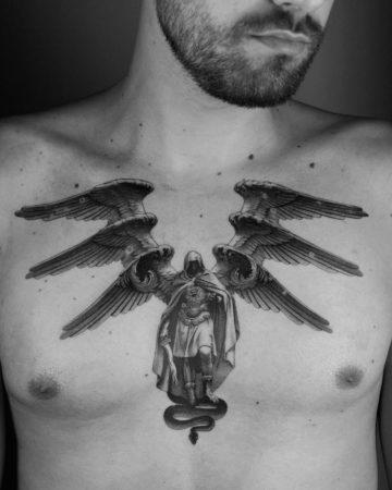 Seraph Chest Tattoo