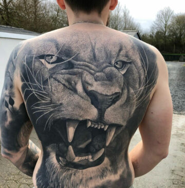 Lion's Face Tattoo