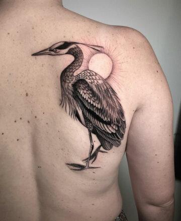 Heron Tattoo