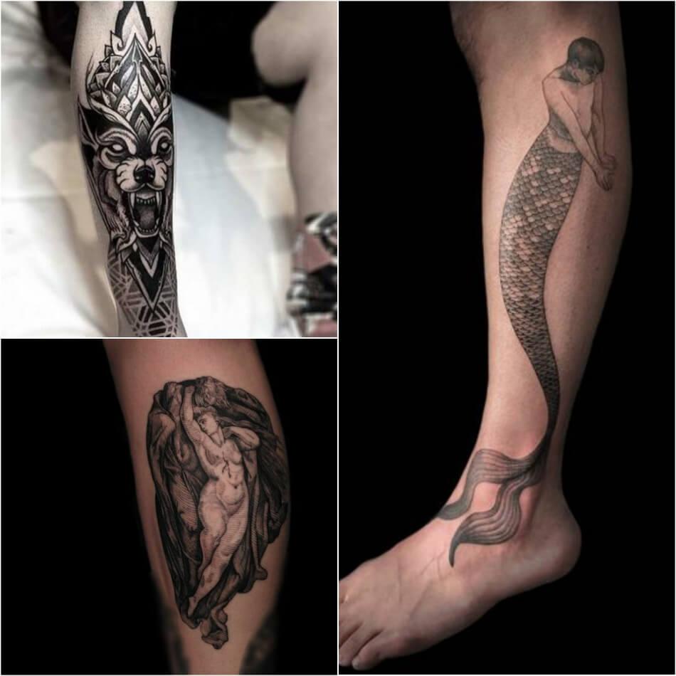 тату на ноге у мужчин лучшие мужские татуировки на ноге