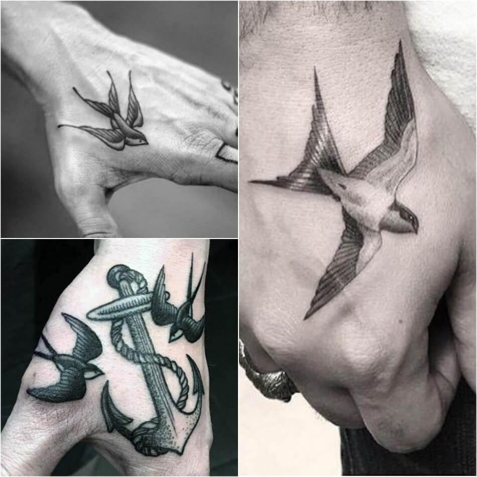 тату ласточка для мужчин символ свободы удачи и везения