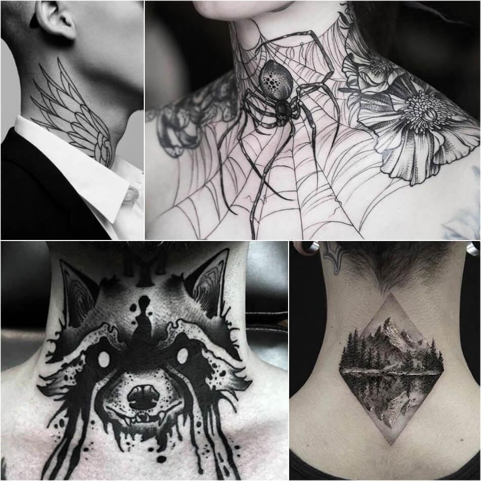 мужские тату на шее необычные идеи тату на шее для мужчин