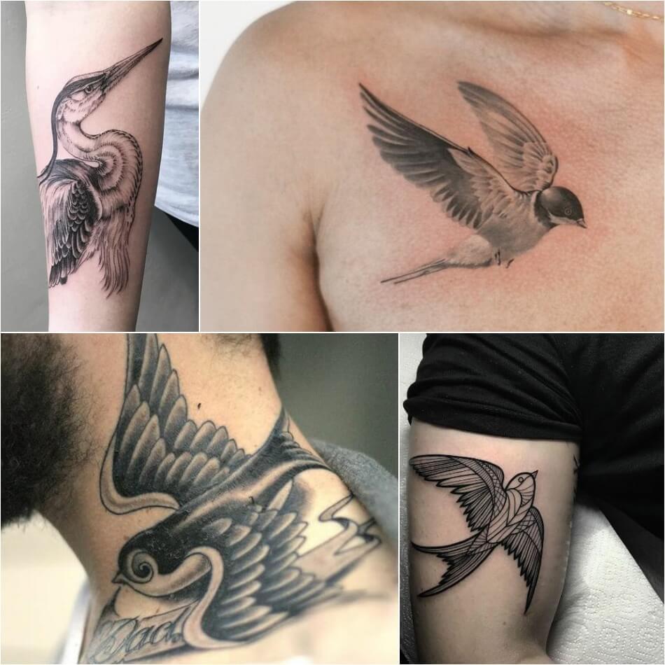 тату птицы символ полета легкости и возвышенности