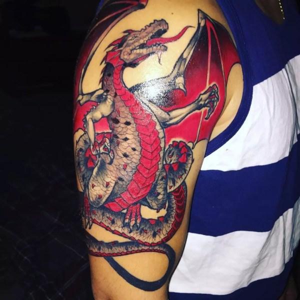 unique dragon tattoo design
