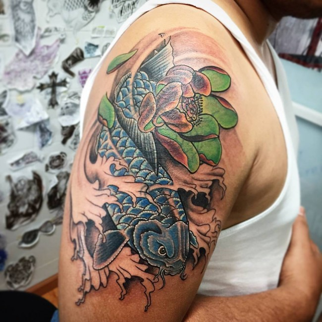 Koi Fish Tattoo Design Arm