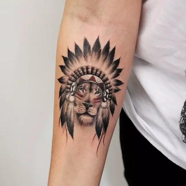 amazing wild lion tattoo design