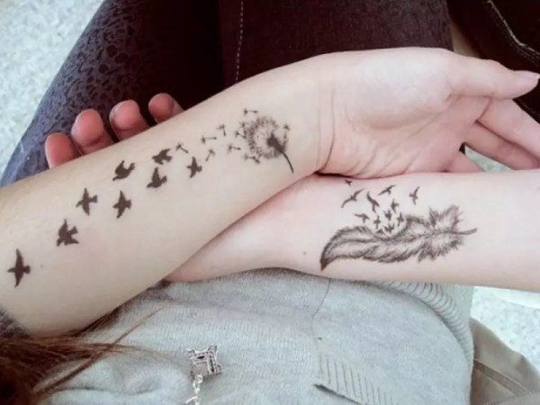 dandelion tattoos design