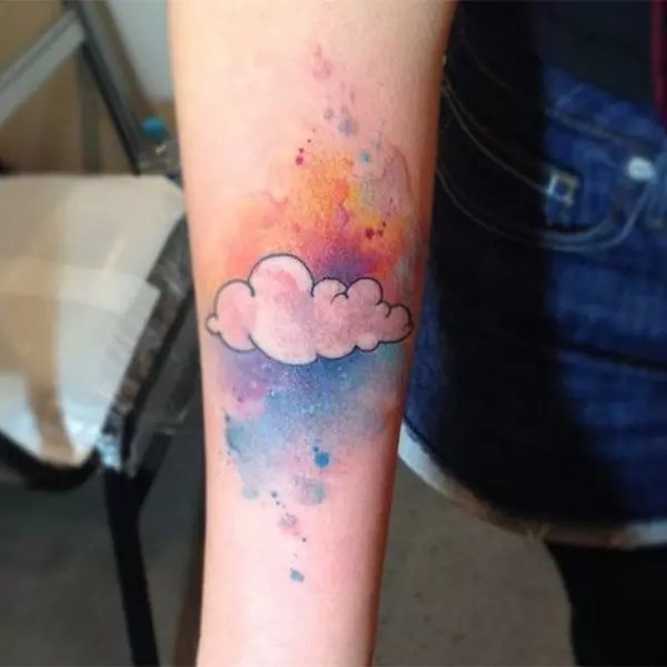 pretty atmospheric cloud tattoo