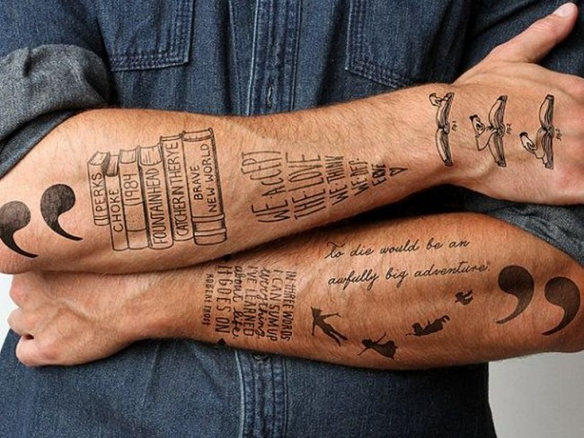 Simple Outer Forearm Tattoos For Men