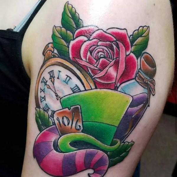 Alice Wonderland Tattoo Design