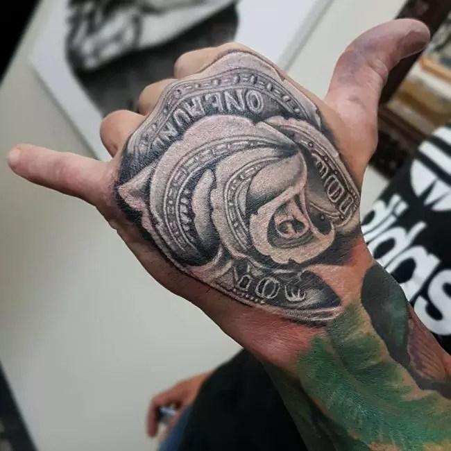 Money Bag Tattoo On Finger