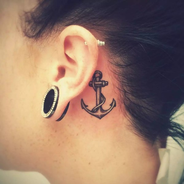 unusual ear tattoos