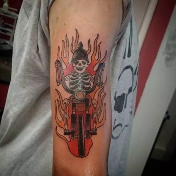 biker tattoo design &