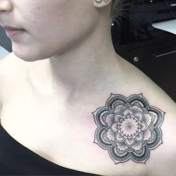 elegant collarbone tattoos
