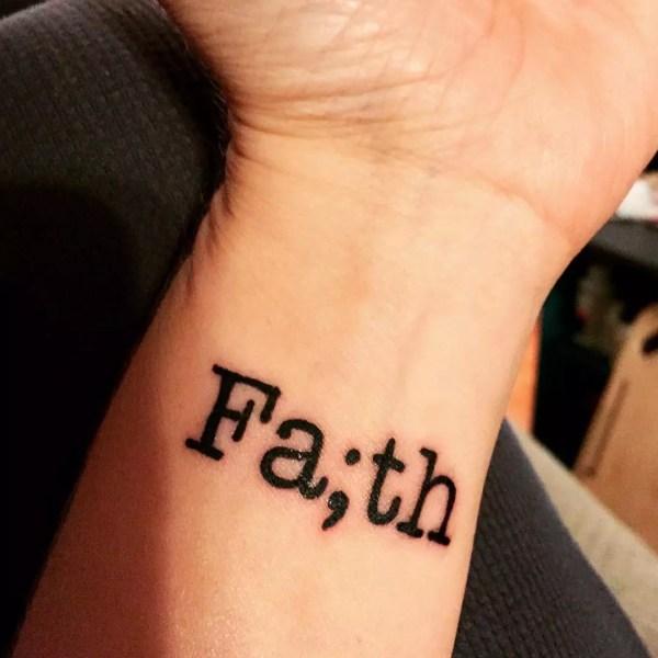 amazing faith love hope tattoo