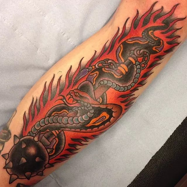 Flame Of Recca Dragons Tattoo