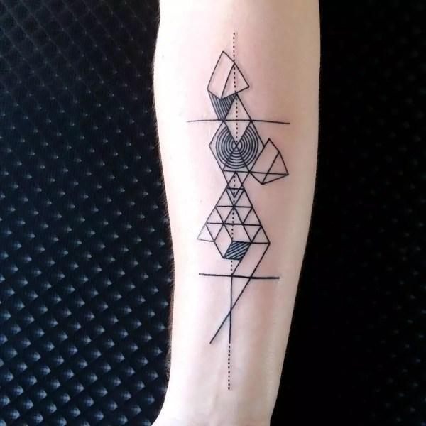 geometric tattoo design &