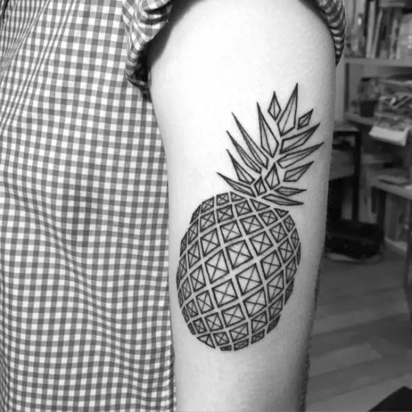 elegant geometric tattoo design
