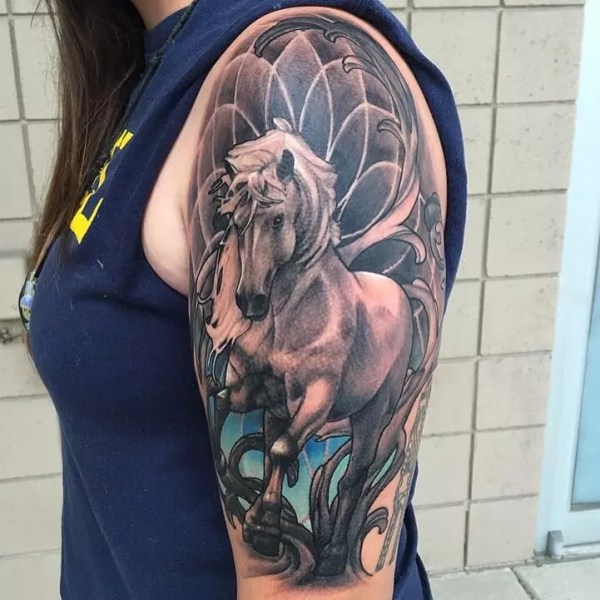 horse tattoo design &