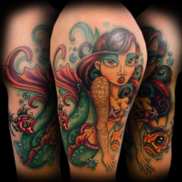 Old School Mermaid Tattoo Designs