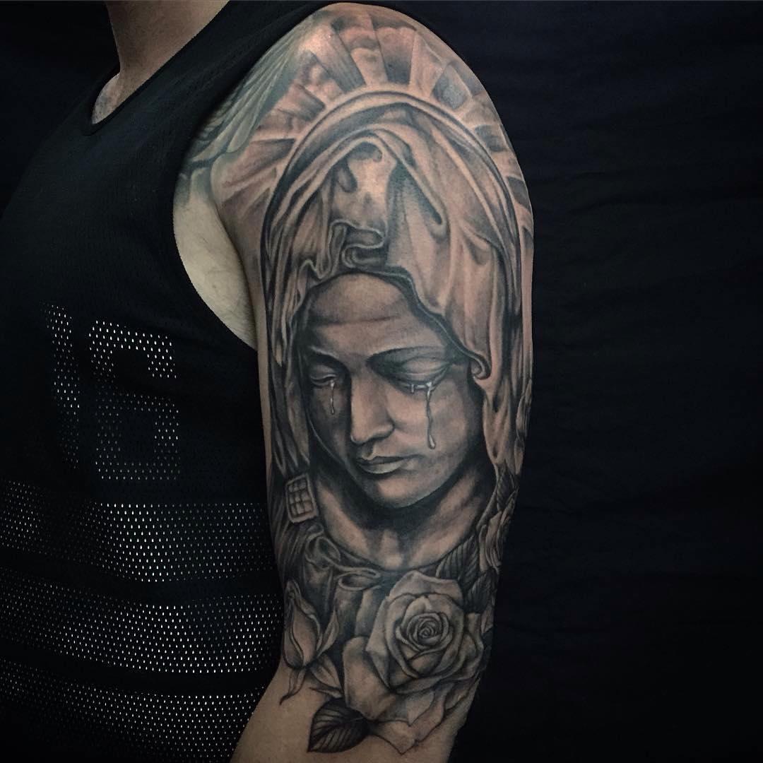Mom Portrait Tattoo Designs