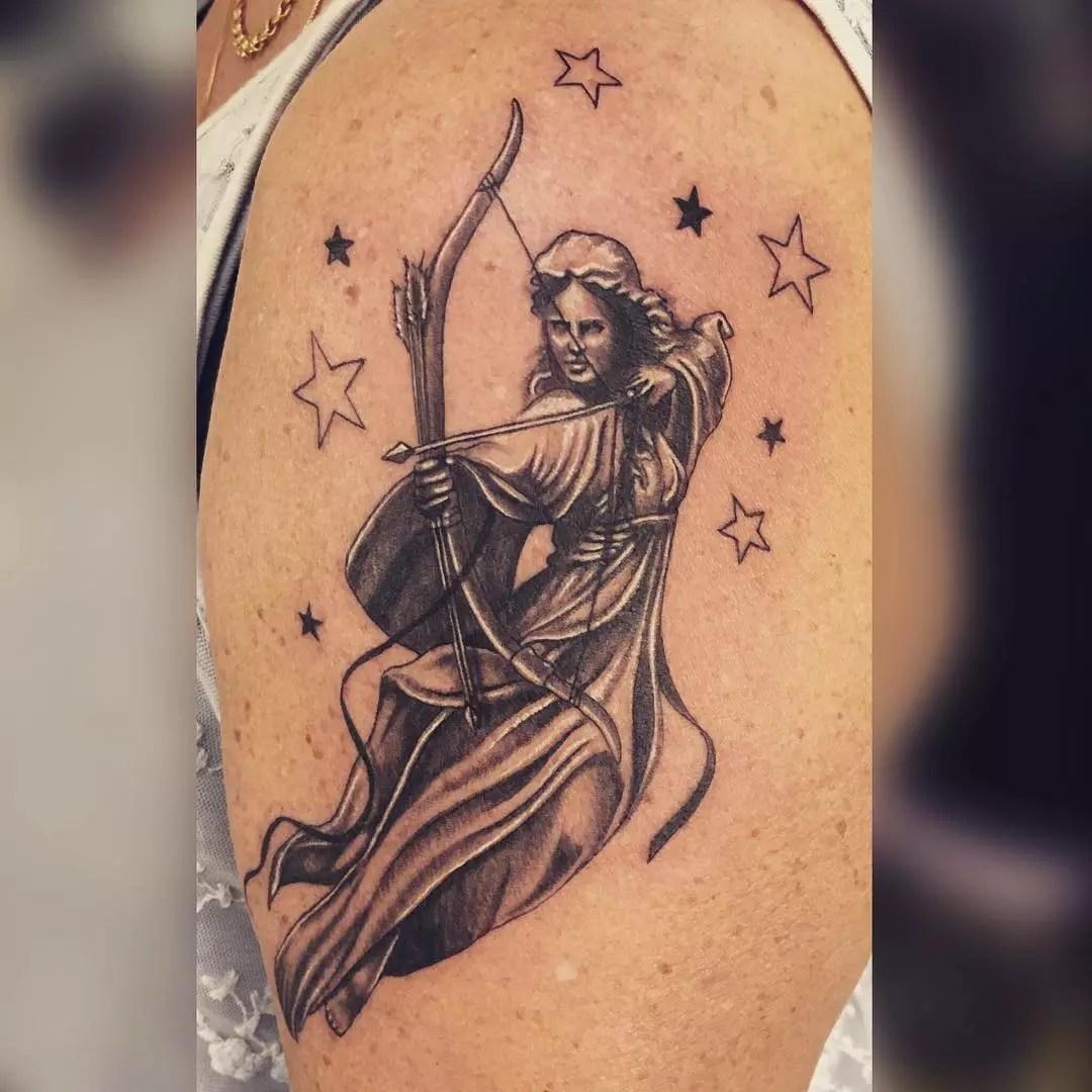 Feminine Centaur Tattoo