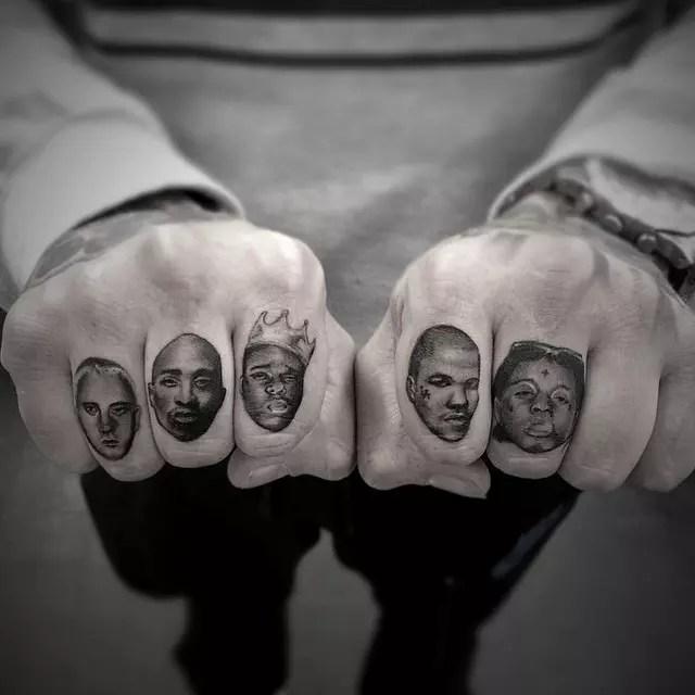 Finger Tattoos For Men Words