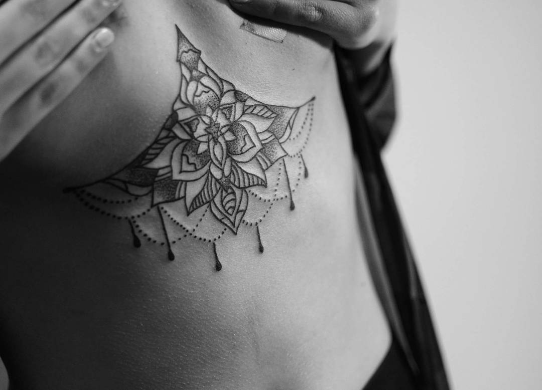 Henna Tattoo Designs Under Breast