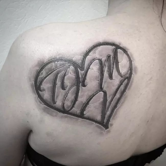 Letter Tattoos With Hearts
