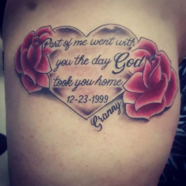 inspiring in memory tattoo ideas