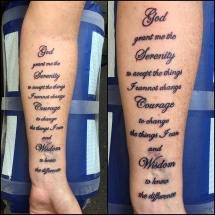 Cross Serenity Prayer Tattoo - Year of Clean Water