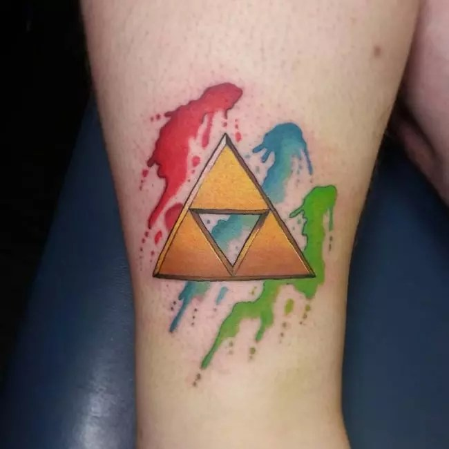Triforce Hand Tattoo