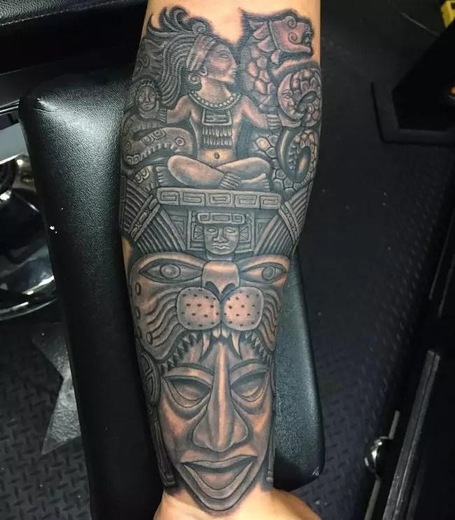 Mayan Tribal Tattoo Designs