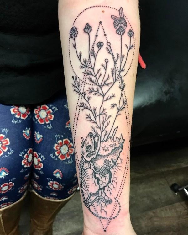 forearm tattoo - design