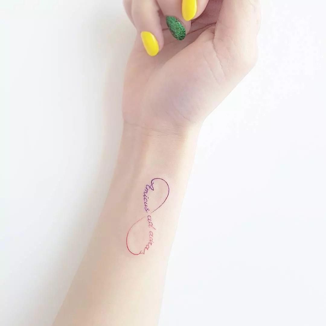 Infinity Symbol Tattoo On Wrist