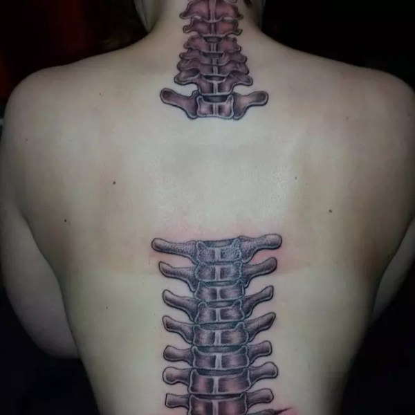 spine tattoos men