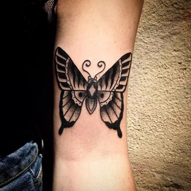 Simple Butterfly Tattoo For Girls On Hand
