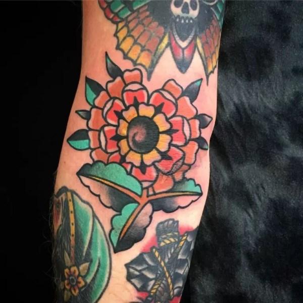 elbow tattoo design